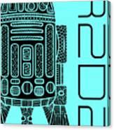 R2d2 - Star Wars Art - Blue Canvas Print