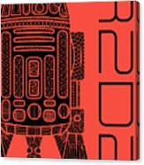 R2d2 - Star Wars Art - Red Canvas Print