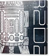 R2d2 - Star Wars Art - Space Canvas Print