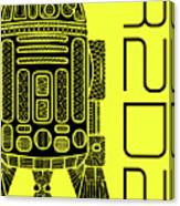 R2d2 - Star Wars Art - Yellow Canvas Print