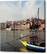 Rabelo Boats On River Douro In Porto 03 Canvas Print