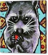 Trash Panda Finds Love Canvas Print