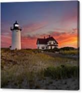 Race Point Light Sunset 2015 Canvas Print