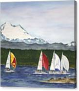 Race Week On Whidbey Island Canvas Print