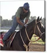 Racehorse At Evangeline Downs Canvas Print