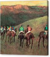Racehorses In A Landscape Canvas Print