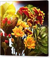 Rachels Flowers Canvas Print