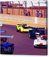 Racing At Laguna Seca Canvas Print