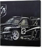 Racing Dodge Pickup Canvas Print