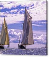Racing On Open Waters Canvas Print