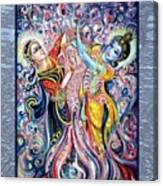 Radha Krishna - Cosmic Dance Canvas Print