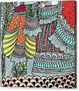Radha Krishna Fish Canvas Print