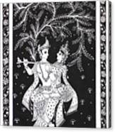 Radha Krishna - The Devine Canvas Print