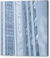 Radio City Cool Toned Canvas Print