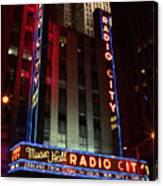 Radio City Music Hall Cirque Du Soleil Zarkana Canvas Print