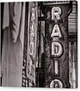 Radio Nashville - Monochrome Canvas Print