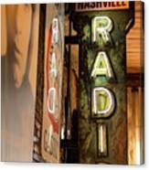 Radio Nashville Sign Canvas Print