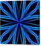 Radioactive Snowflake Blue Canvas Print