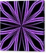 Radioactive Snowflake Purple Canvas Print