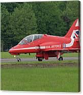 Raf Red Arrows Jet Lands Canvas Print