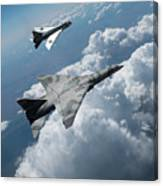 Raf Tsr.2 Advanced Bomber With Lightning Interceptor Canvas Print