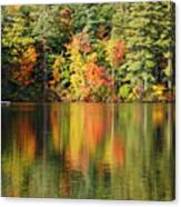 Raft On Autumn Pond Canvas Print