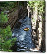 Rafting In A Gorge Canvas Print