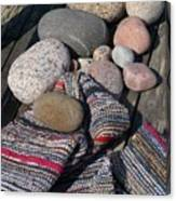 Rag Rugs With Stones And The Dock 3 Canvas Print