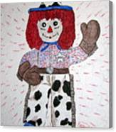 Raggedy Andy Cowboy Canvas Print