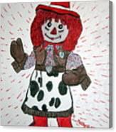 Raggedy Ann Cowgirl Canvas Print