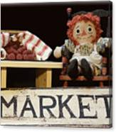 Raggedy Ann Selling Raspberries Canvas Print