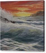Raging Surf Canvas Print