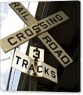 Rail Road Sign Canvas Print