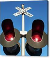 Railroad Crossing Lights Canvas Print