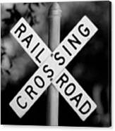 Railroad Crossing Sign Canvas Print