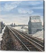 Railroad Going North  Canvas Print