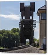 Railroad Lift Bridge 2 C Canvas Print