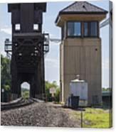 Railroad Lift Bridge2 A Canvas Print