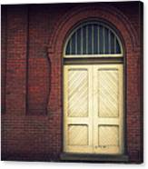 Railroad Museum Door Canvas Print