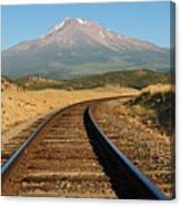 Railroad To The Mountain Canvas Print