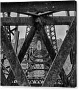 Railroad Trestle Panoramic 2 Canvas Print