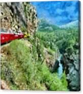 Rails Above The River Canvas Print