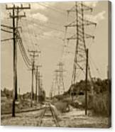 Rails And Wires Canvas Print