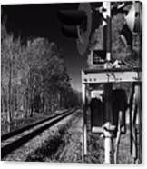 Railway 2 Black And White Canvas Print