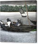 Rain In Bangladesh- An Acrylic Painting Canvas Print
