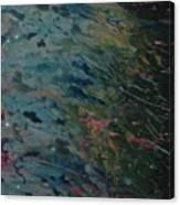 Rain In The Garden Canvas Print