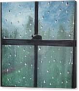 Rain On The Window Canvas Print