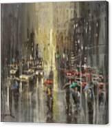 Rain On Wisconsin Avenue Canvas Print