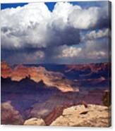 Rain Over The Grand Canyon Canvas Print