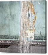 Rain Ruined Wall Canvas Print